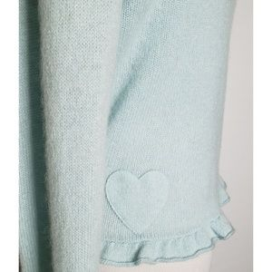 Juicy Couture Sweaters - Juicy Couture Mint Cashmere Ruffled Edge Wrap